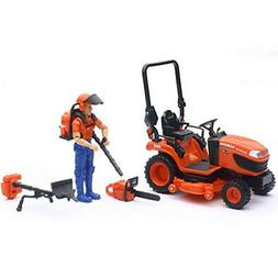 1/18 Kubota BX2670 Lawn Tractor with Figure & Accessories by