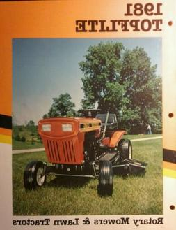 MTD 1981 Topflite Lawn Tractor & Walk Behind Mowers Color Sa