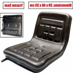 black tractor seat with back rest waterproof
