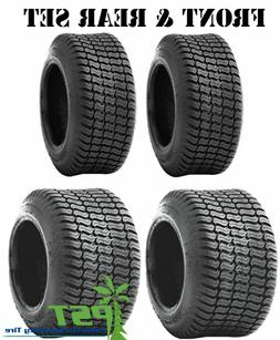 FULL MATCHING SET  Lawn Tractor Mower Tires 15x6.00-6 and 20