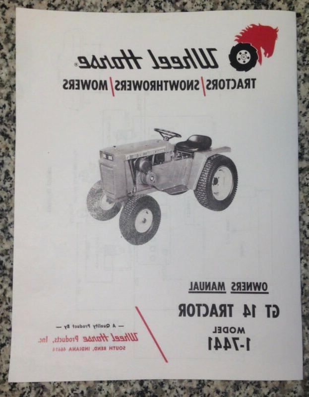 gt 14 lawn tractor owner operators manual