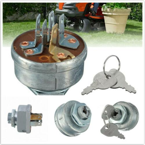 Ignition Switch Ride on Mower Lawn Tractor 5 Spade Terminal