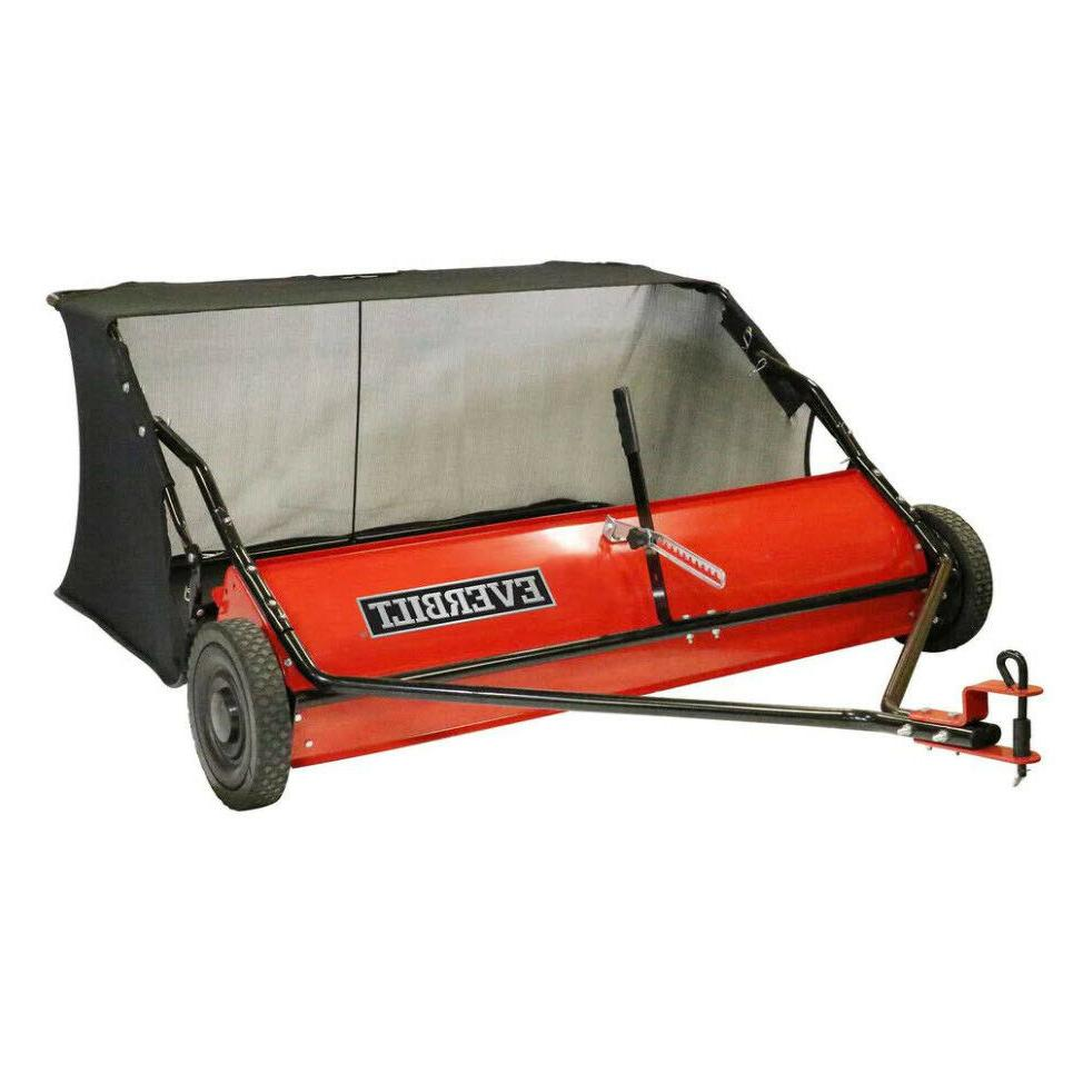 LAWN LEAF SWEEPER Tractor Tow-Behind Grass Catcher 48 in. 15