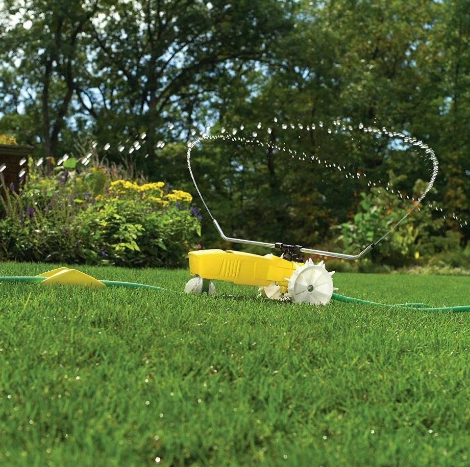 lawn tractor sprinklers traveling water for yard