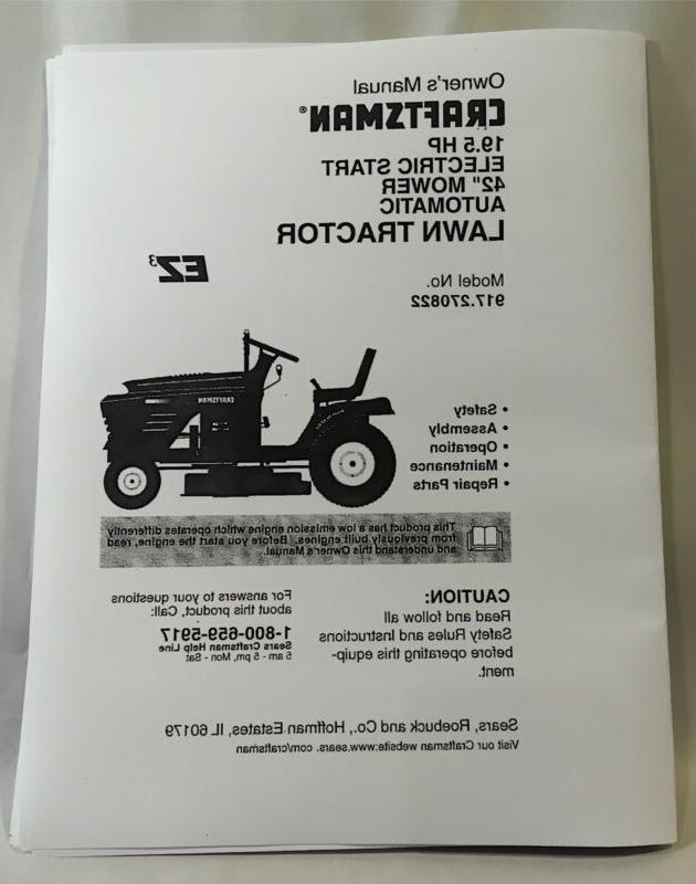 owners manual 19 5 hp auto transmission