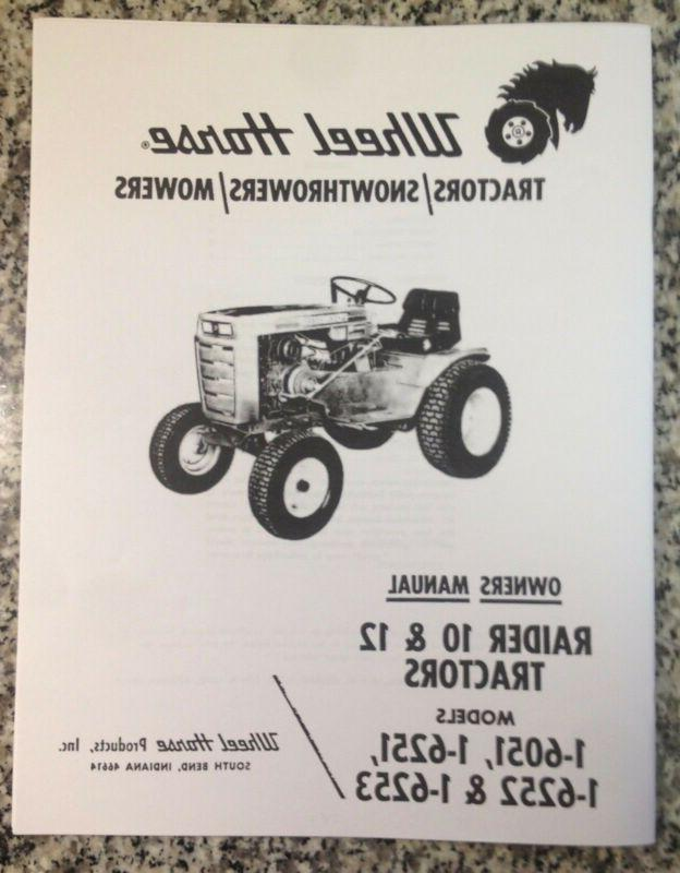 raider 10 and 12 lawn tractor owner