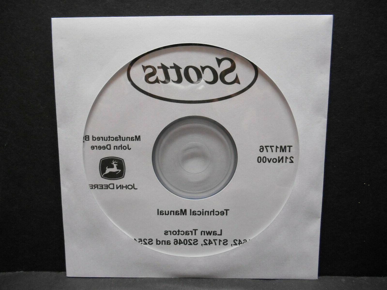 Scotts S1742, & S2546 Tractor Technical Manual TM1776 On CD