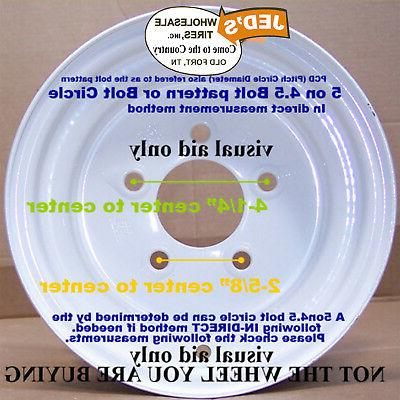 """TWO 10"""" RIMs WHEELs fits many Mowers Garden 10x8.5"""