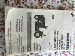 """Craftsman Lawn Tractor 16.5 HP 42"""" Owner's Manual/filters /s"""