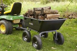 Dump Cart For Lawn Tractor Garden With Big Wheels Gorilla AT