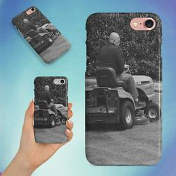 MAN IN BLACK RIDING MOWER HARD BACK CASE FOR APPLE IPHONE PH