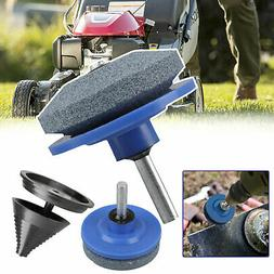 Mower Blade Balancer & Sharpener Set For Lawn Mower Tractor