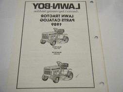 NEW LAWN BOY LAWN TRACTOR PARTS CATALOG    1989        21 PA