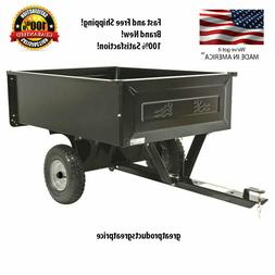 NEW Steel Dump Cart Lawn Riding Mower Garden Wagon Removable