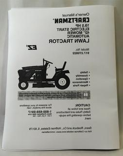 Owner's Manual Craftsman 19.5 HP Auto Transmission Lawn Tr