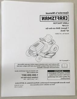 Owner's Manual Sears Craftsman 17.5 HP - 7-Speed Lawn Trac