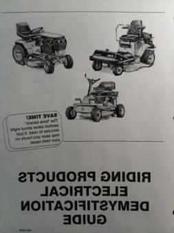Toro Lawn Tractor Electrical Demystification Wiring Diagram