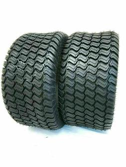 Two 20X10.00-8 4 Ply Tubeless Turf Tire Tractor Riding Mower